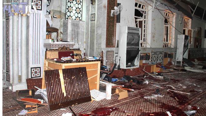 محل ترور عالم سوری در مسجد الایمان دمشق