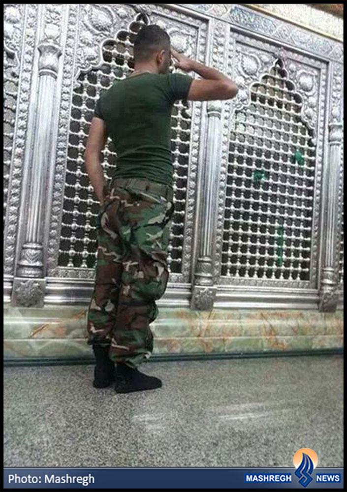 عکس / احترام نظامی به «بانوی مقاومت»
