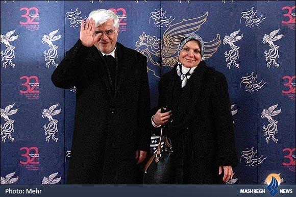 عکس/ عارف و همسرش در جشنواره فجر