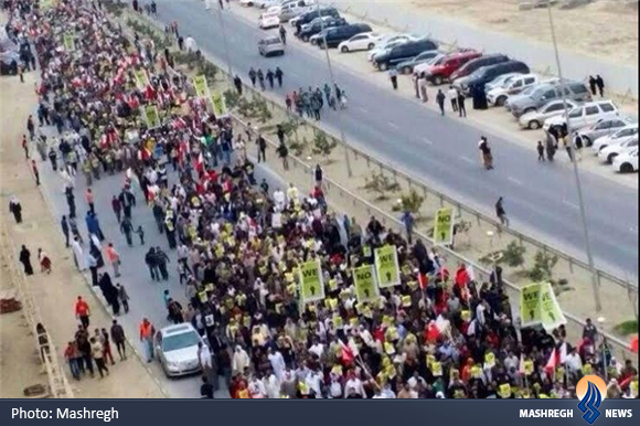 تظاهرات گسترده مردم بحرین