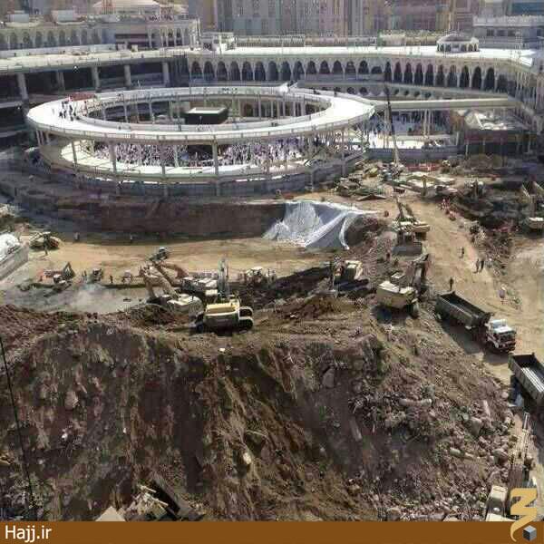 تصویری جالب از توسعه مسجدالحرام