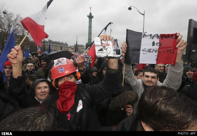 روز خشم فرانسویها علیه اولاند +عکس