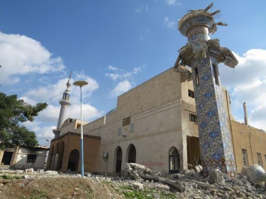 تخریب مساجد توسط داعش+تصاویر