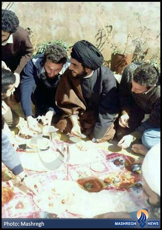 عکس / سفرهی سید حسن و مجاهدان حزب الله