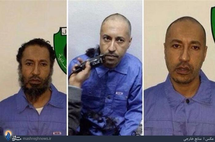 تصویر پسر قذافی پس از دستگیری