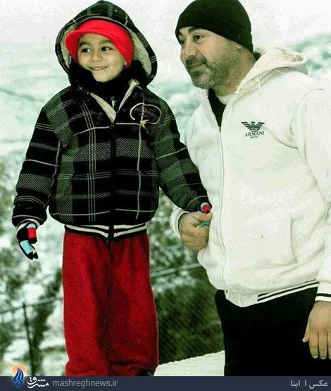 فرمانده شهید حزبالله و فرزند خردسالش + عکس
