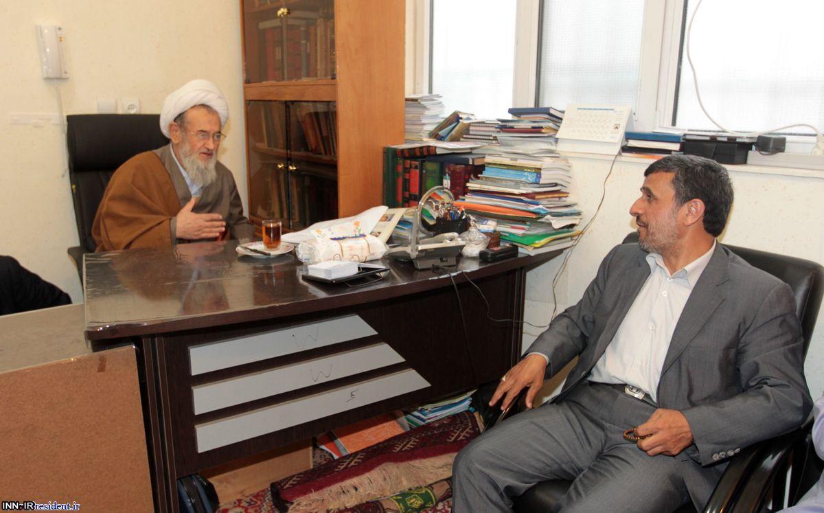 عکس/احمدی نژاد در دیدارنماینده ولی فقیه