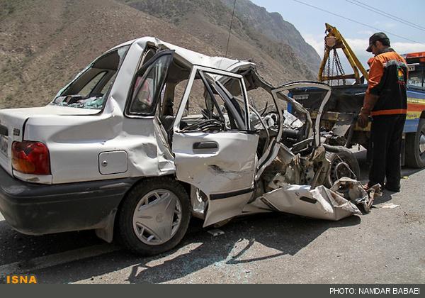 لینک گروه نجف اباد گودرزنیوز - تصادف پراید با کامیون در جاده هراز