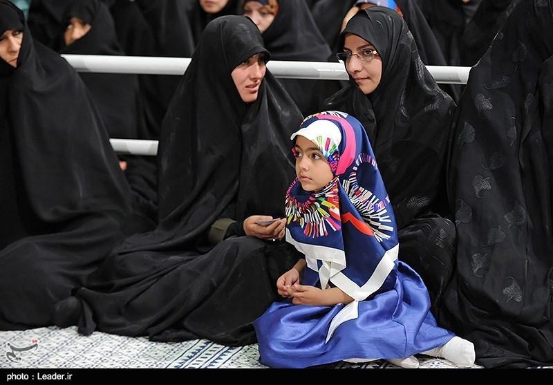 حجاب آرمیتا در دیدار امروز با رهبری
