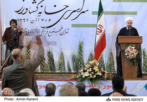 عیدی امسال یارانه ها تصاویر/روحانی در کنگره خانه کشاورز