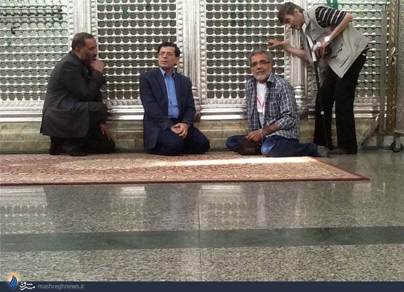افخمی و قزوه در حرم حضرت زینب+عکس
