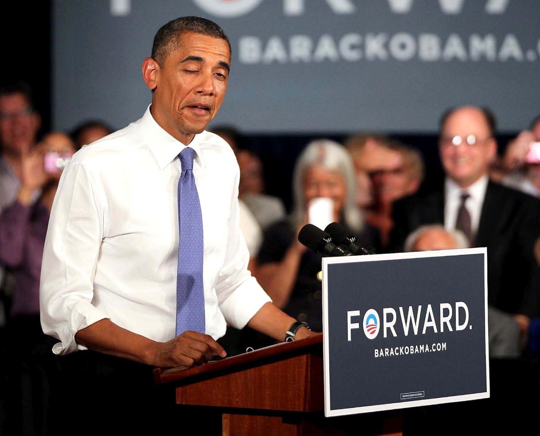 عکس/طریقه چشمک زدن اوباما درسخنرانی
