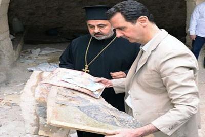 بازدید اسد از شهر مسیحینشین+عکس