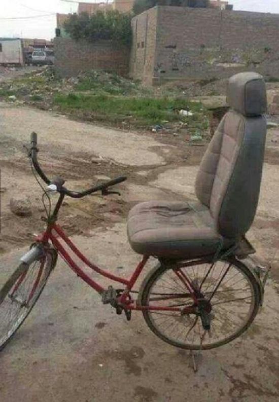 عکس/ دوچرخه با صندلی راحتی