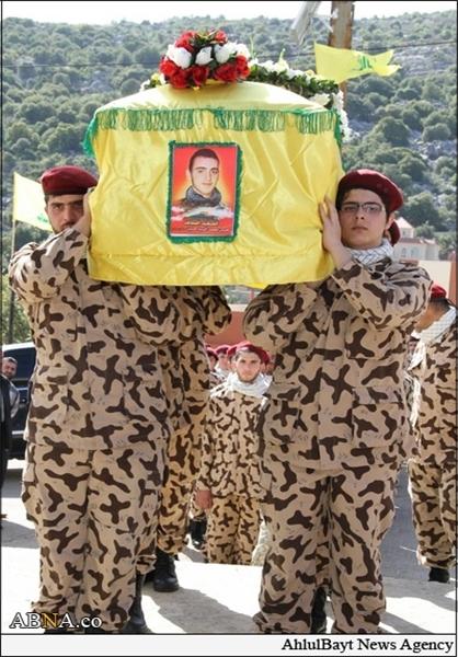 تشییع پیکر یکی از رزمندگان حزبالله+تصاویر