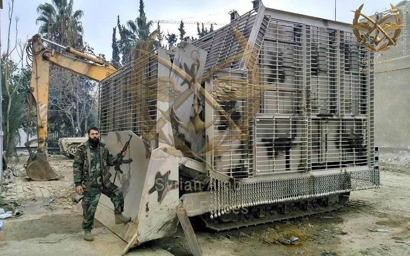 عکس/ بلدوزر زره پوش ارتش سوریه