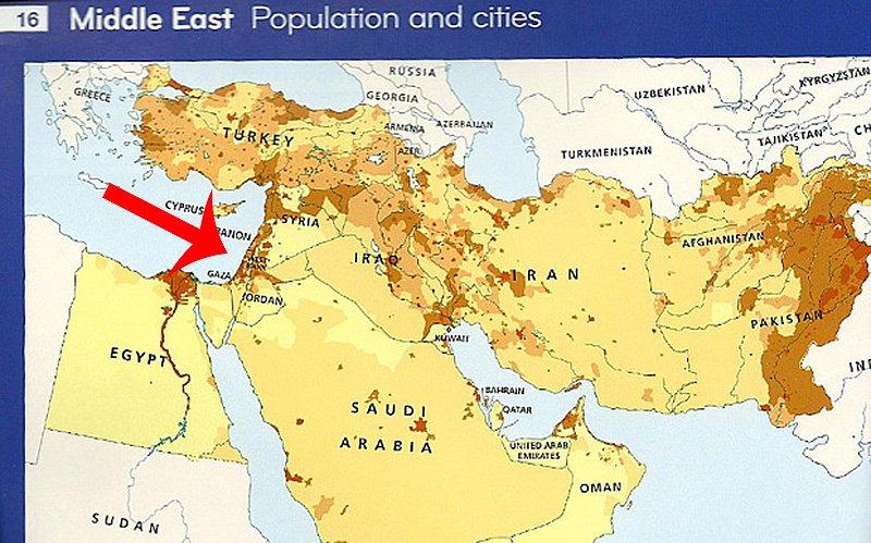 حذف نام اسرائیل از نقشه در آمریکا +عکس