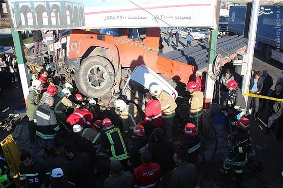 نجات سه جوان در تصادف سهمگین +عکس