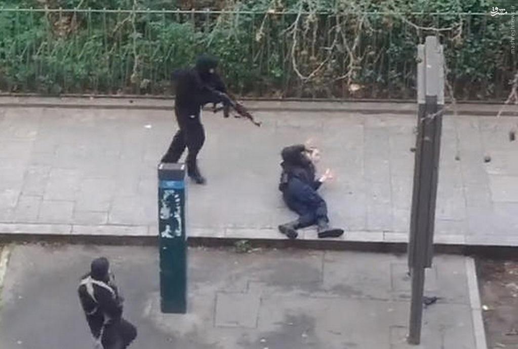 عکس/ تیرخلاص به پلیس فرانسوی