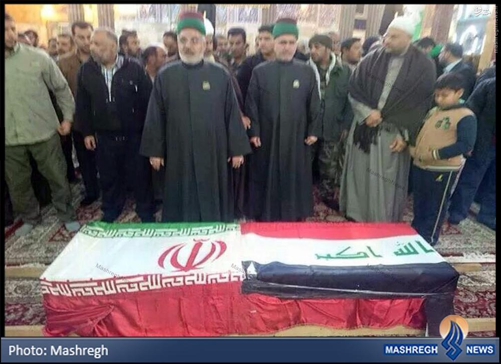 تصاویر/ نماز بر پیکر شهید «مدافع حرم» در «سامراء»