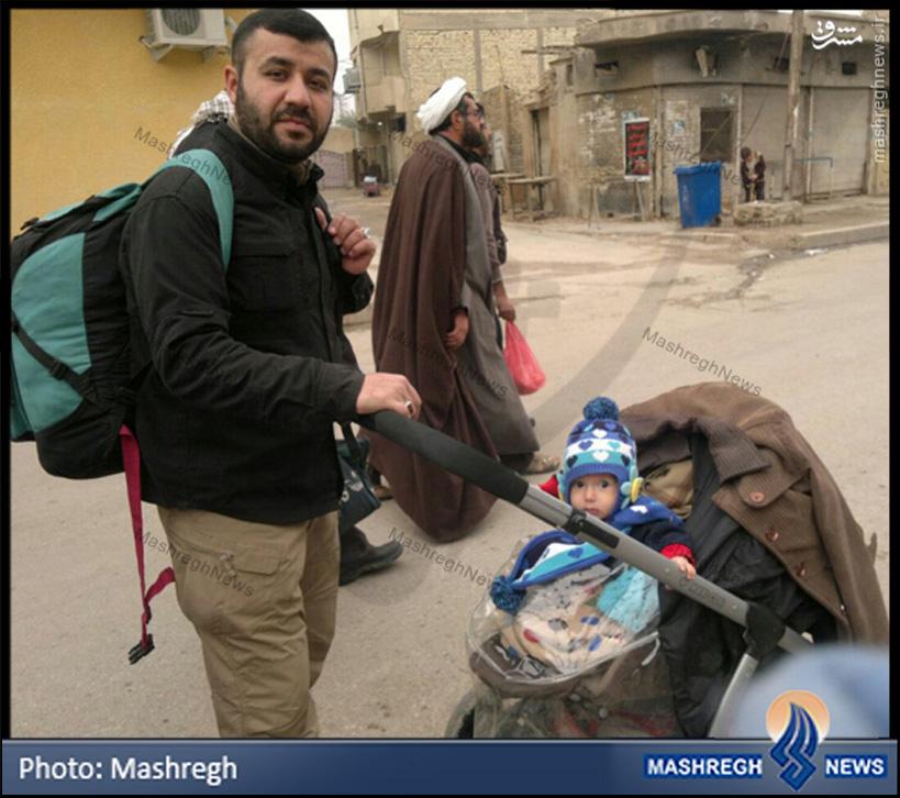 عکس/ «مدافع حرم عسکری» در «اربعین حسینی»