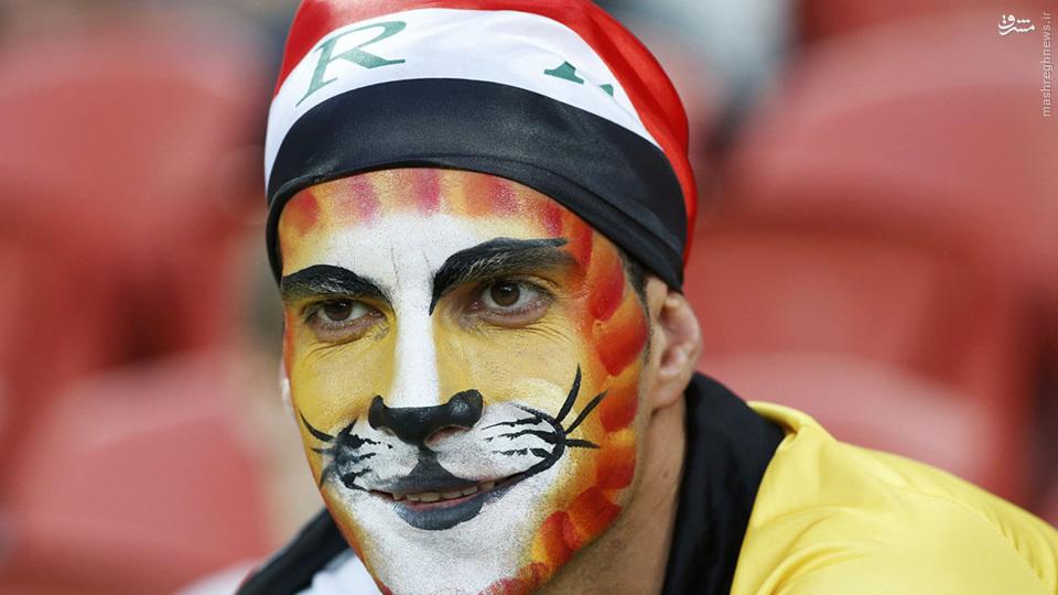 عکس/ گریم عجیب هوادار عراق