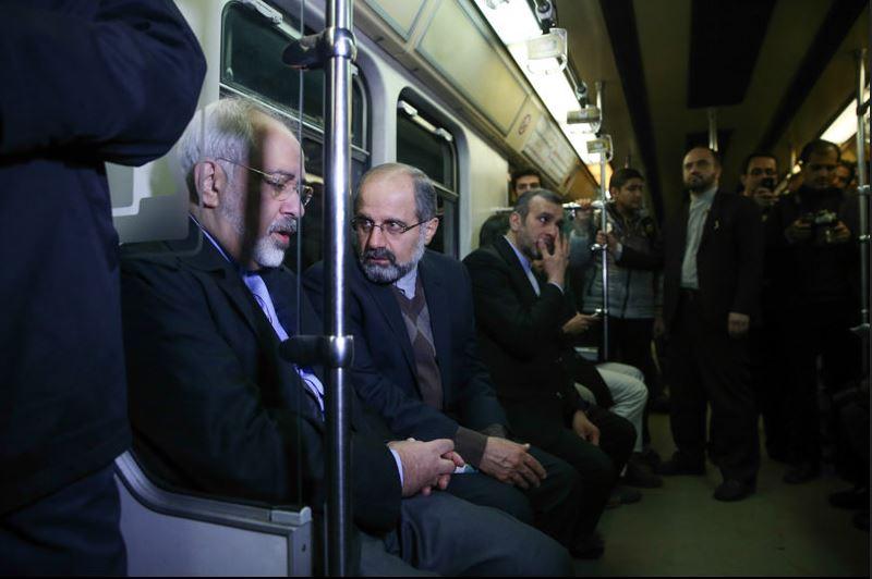 ظریف با مترو سرکار رفت