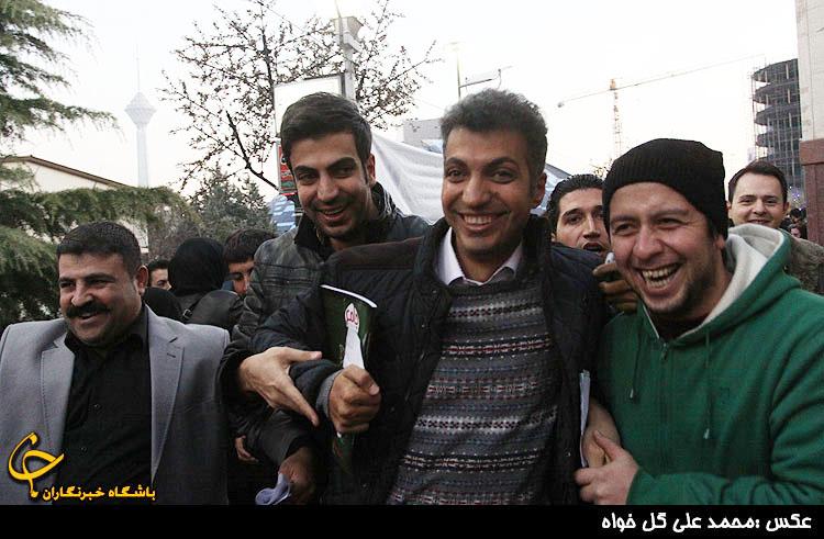 عکس فردوسی پور در مراسم ختم مرتضی احمدی