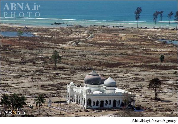 مسجدی که در سونامی آسیبی ندید+عکس