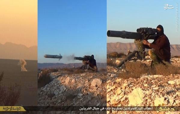 عکس/ استفاده داعش از موشک آمریکایی