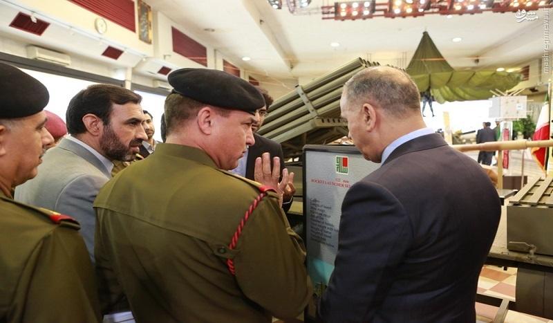 بازدید وزیر دفاع عراق از تسلیحات موشکی ایران