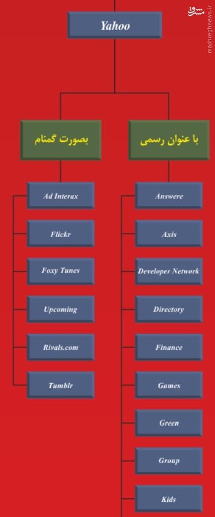 همه یاران آژانس امنیت ملی آمریکا + نمودار