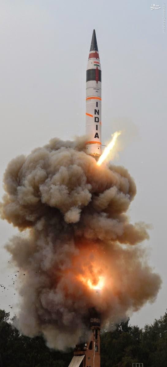 عکس/ آزمایش موفق موشک قاره پیمای هند