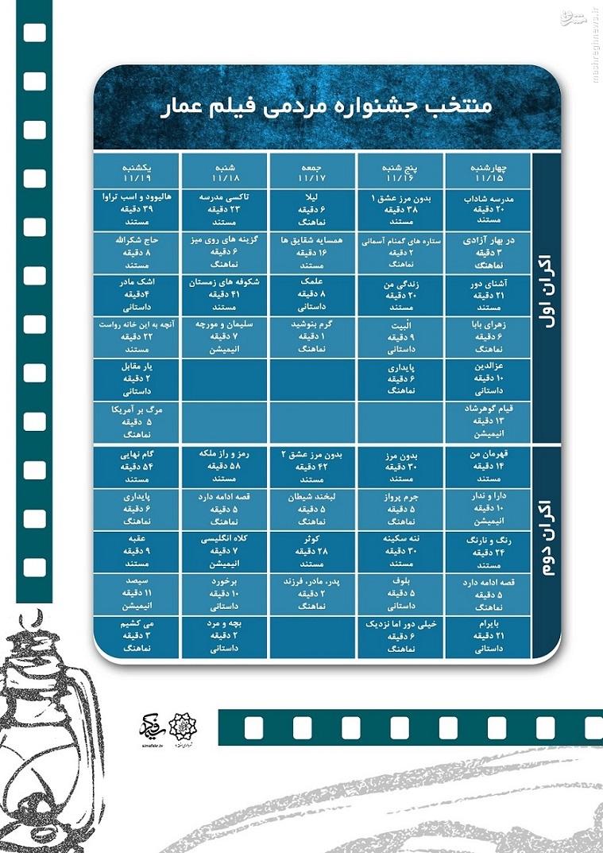 اکران برگزیده?های جشنواره فیلم عمار