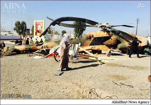 عکس/ سقوط بالگرد در ورودی حرمعسکریین(ع)