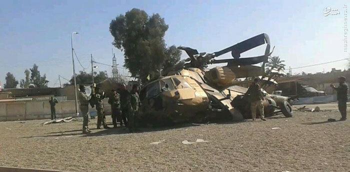 عکس/ سقوط بالگرد عراقی در سامرا