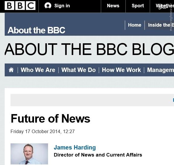پروژه بیبیسی برای چگونگی نحوه ارائه اخبار در سال 2027