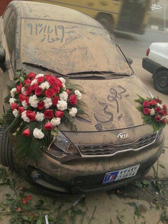 عکس/ ماشین عروس دیدنی در اهواز