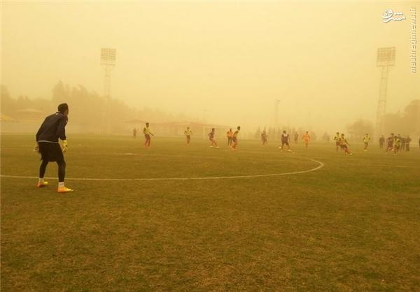 عکس/ تمرین عجیب تیم لیگ برتری