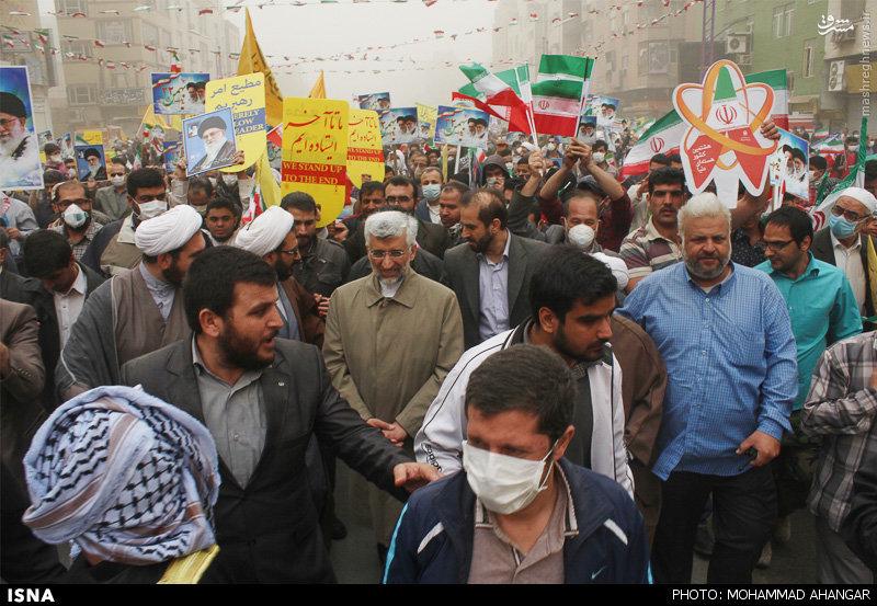 عکس/ سعید جلیلی در جمع راهپیمایان اهوازی