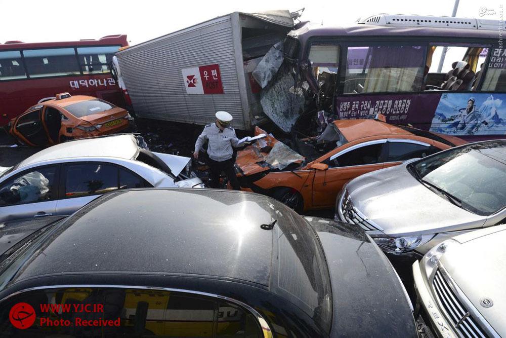 تصادف هولناک در کره جنوبی