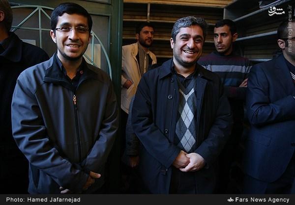 عکس/ پسران احمدی نژاد در ختم مادربزرگشان