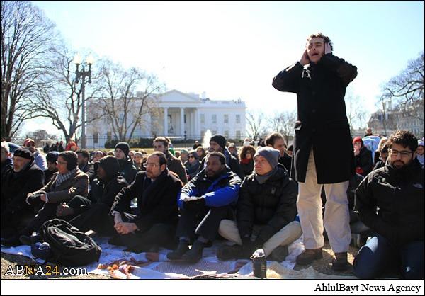 واکنشاوباما به نماز مقابل کاخ سفید+تصاویر