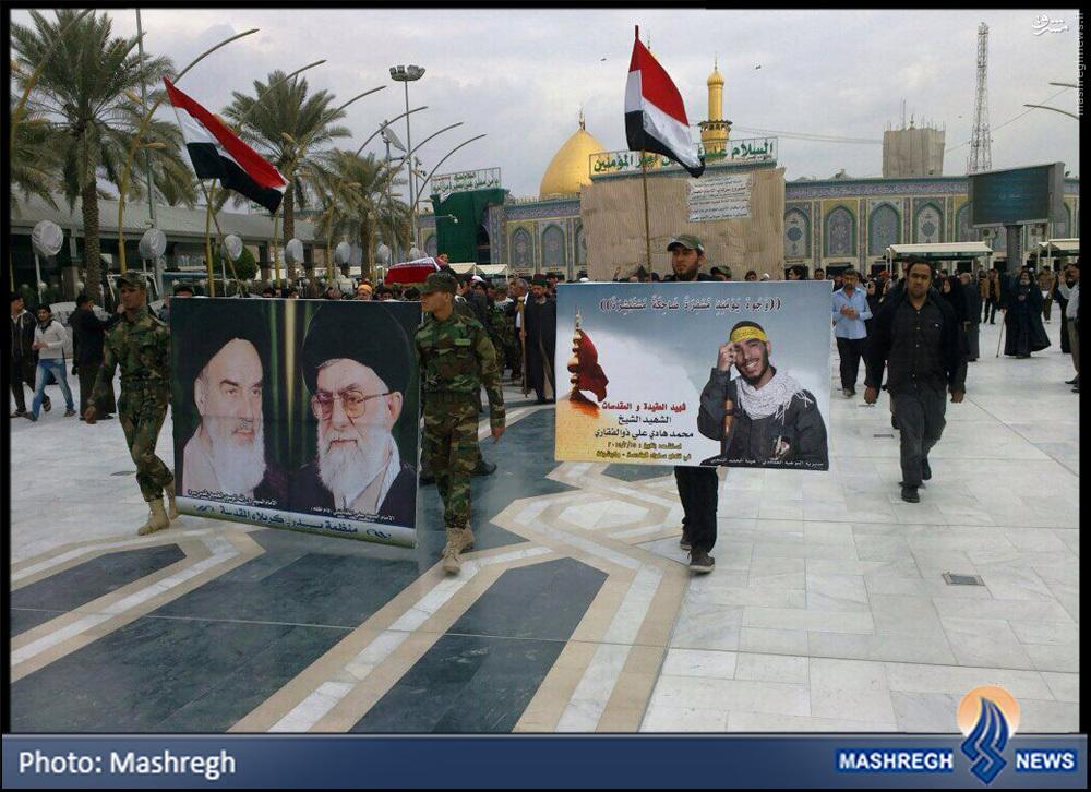 تصاویر/ تشییع «مدافع حرم» ایرانی در «بین الحرمین»