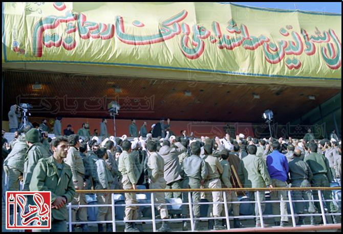 عکس/ رهبری در استادیوم آزادی