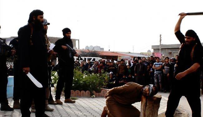 داعش یک جوان سوری را گردن زد +عکس