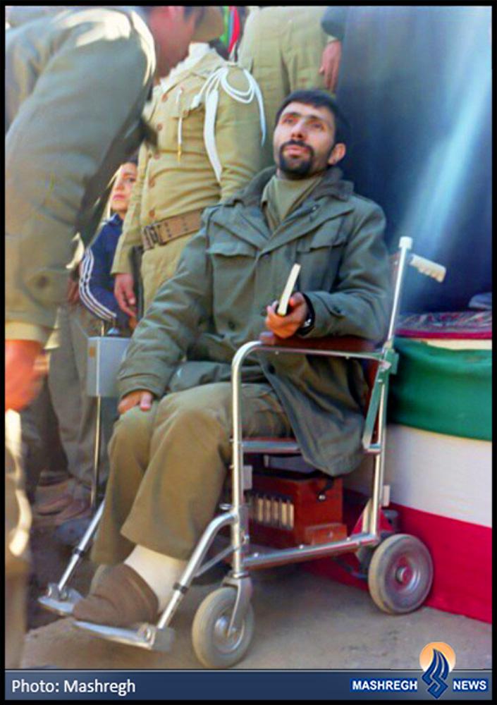 عکس/ اسطورهی ارتش روی ویلچر