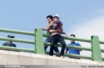 عکس/ خودکشی نافرجام دختر کرمانشاهی