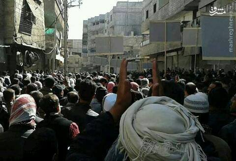 تظاهرات ساکنان بیت سحم علیه جبهه النصره/ هلاکت امیر النصره در درگیری با شام الرسول/اعتراضات علیه جنایات تروریستها در اردوگاه یرموک/تسلیم 56 تروریست تکفیری مسلح