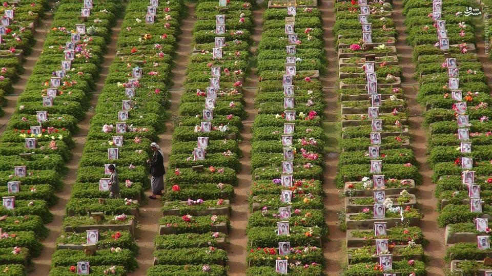 عکس/ آرامگاه زیبای شهدای انصارالله یمن